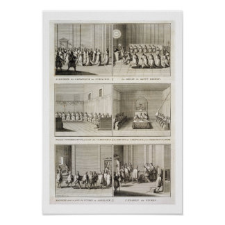 Electing the Pope, from the 'Encyclopedia' by Deni Poster