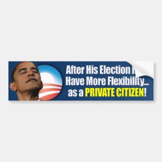 Election 2012 - Anti Obama Car Bumper Sticker