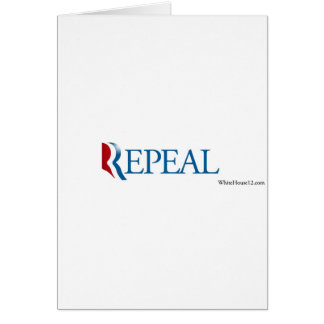 """Election 2012 """"Repeal"""" Gear Card"""