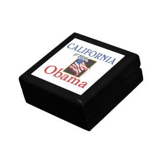Election California for Obama Jewelry Box