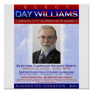Election Campaign Kickoff Party Poster