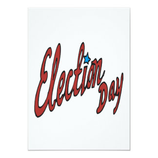 Election Day 13 Cm X 18 Cm Invitation Card