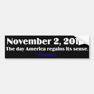 Election Day 2010 I Hope America Wakes Up Car Bumper Sticker