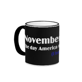 Election Day 2010 I Hope America Wakes Up Ringer Mug
