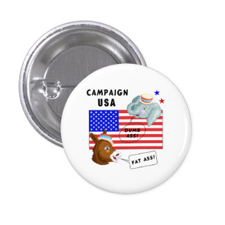 Election Day Campaign USA Pin