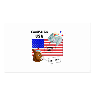 Election Day Campaign USA Business Card Templates