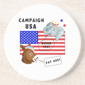 Election Day Campaign USA Coasters