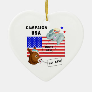 Election Day Campaign USA Christmas Ornament