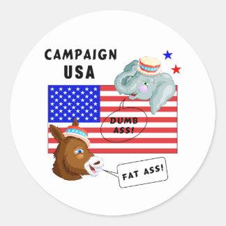 Election Day Campaign USA Round Sticker