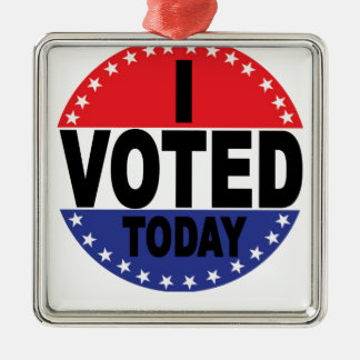 Election Day I VOTED TODAY.png Christmas Ornament