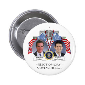 ELECTION DAY Mitt Romney Paul Ryan BUTTON