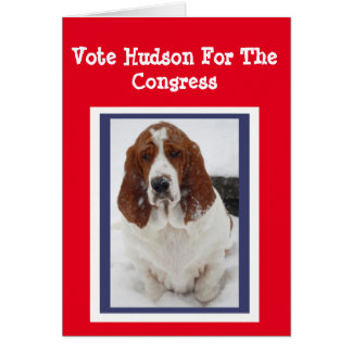 Election Greeting Card Vote Hudson For Congress