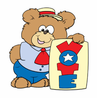 election VOTE teddy bear design 2 Standing Photo Sculpture