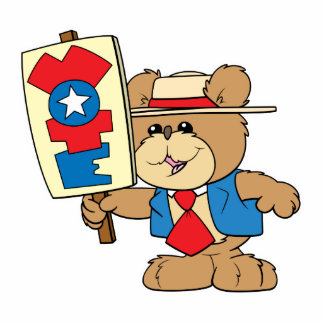 election VOTE teddy bear design Standing Photo Sculpture