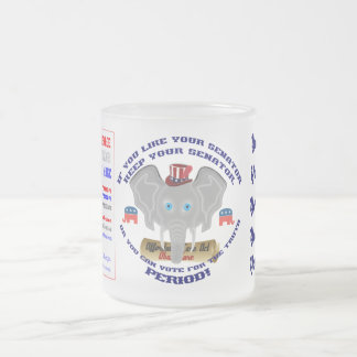 Elections Any Republican ADD your Image Frosted Glass Mug