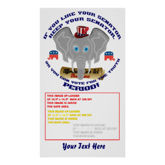 """Elections  Poster 34"""" X 60"""" Customize to Smaller"""