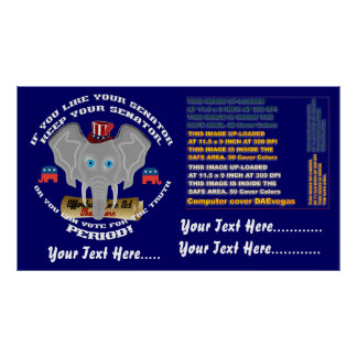 """Elections  Poster 60"""" X 34"""" Customize to Smaller"""