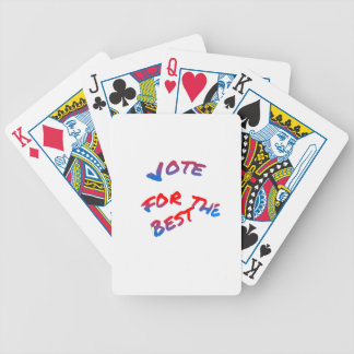 Elections, Vote for the best Bicycle Playing Cards