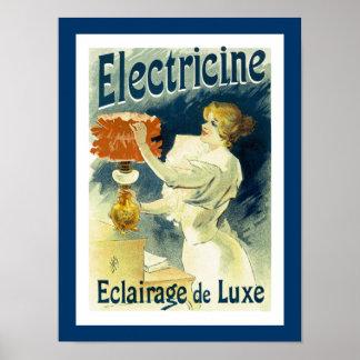 Electracine Luxury Lighting Poster