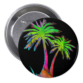 Electric 80 s Palm Tree Button