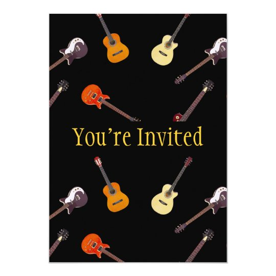 Electric & Acoustic Guitar Collage Card