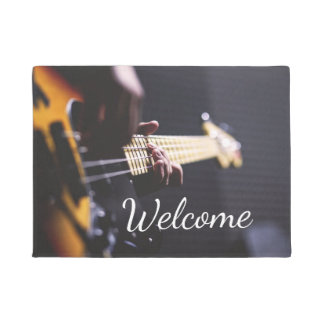 Electric Bass Guitar Player Doormat