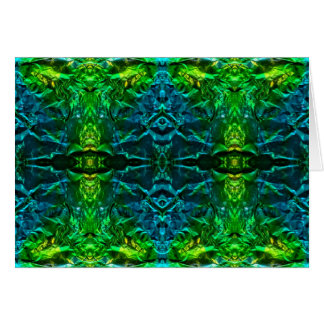 Electric Blue and Green Dazzling Blank Card
