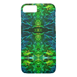 Electric Blue and Green Geometric Phone Case