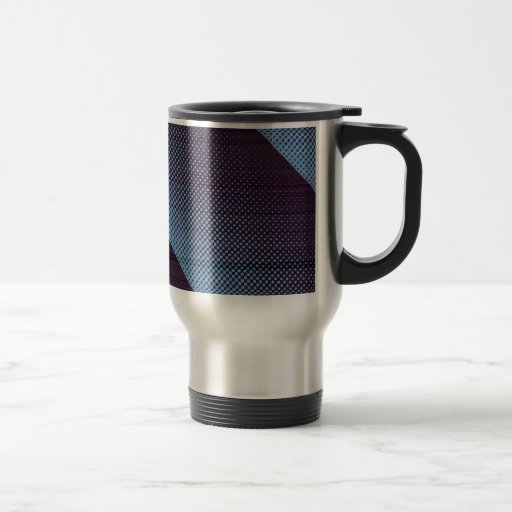 Electric Blue Digital Rain Coffee Mug