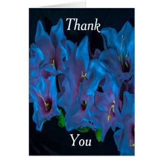 Electric Blue Flowers Thank You Card
