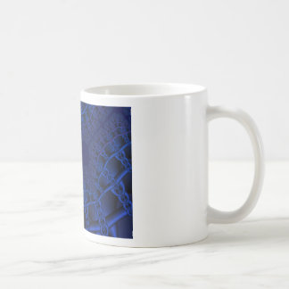 Electric Blue fractal Coffee Mug