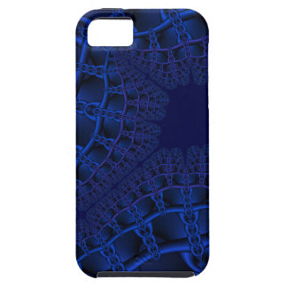 Electric Blue fractal iPhone 5 Cover