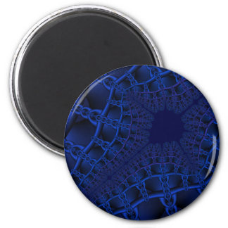Electric Blue fractal Magnet