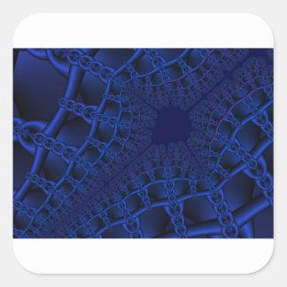 Electric Blue fractal Square Sticker