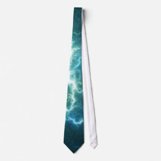 Electric Blue Fractal: Tie