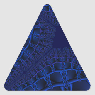 Electric Blue fractal Triangle Sticker