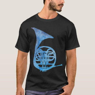 Electric Blue French Horn T-Shirt