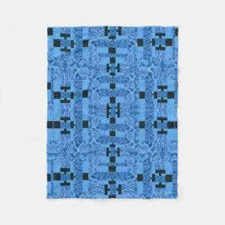 Electric Blue Geometric Pattern Blanket