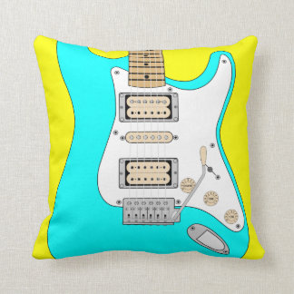 Electric Blue Guitar Cushion