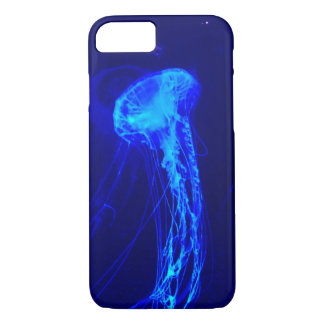 Electric Blue Jellyfish iPhone 8/7 Case