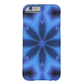 Electric Blue Leaves Barely There iPhone 6 Case