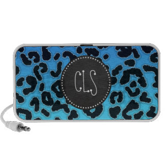 Electric Blue Leopard Print; Chalkboard look Notebook Speakers