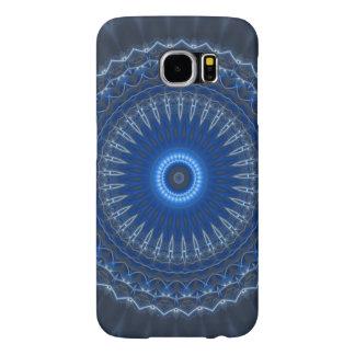Electric Blue Mandala Pattern Samsung Galaxy Case