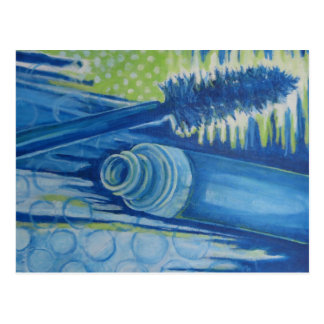 Electric Blue Mascara Postcard