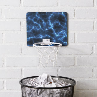 Electric blue mini basketball hoop