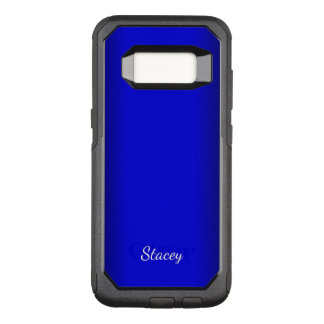 Electric Blue Personal OtterBox Commuter Samsung Galaxy S8 Case