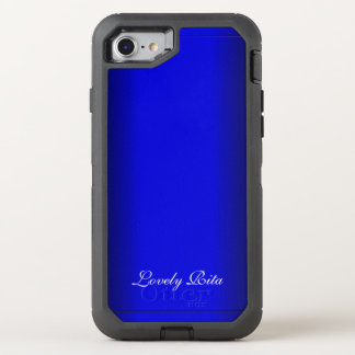 Electric Blue Personal OtterBox Defender iPhone 7 Case