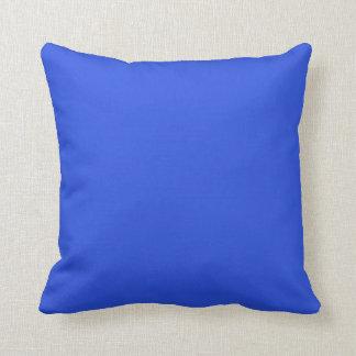 Electric blue plain luxury cushion pillow