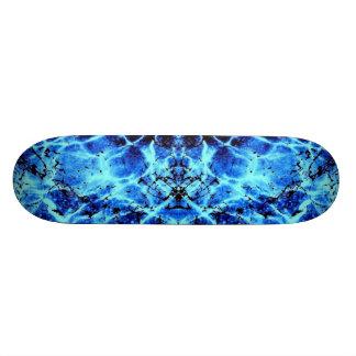 Electric Blue Skate Board Deck