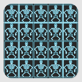Electric blue skeleton stickers